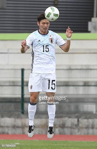 Japan's Defender Masashi Kamekawa during the match between Japan v Mexico U23 Friendly International at Estadio Municipal de Rio Maior on March 25...