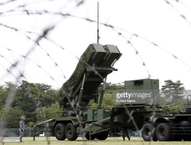 Japan's Defense Ministry opens to the media a drill on deployment of Patriot Advanced Capability3 surfacetoair guided interceptors at the Ground...