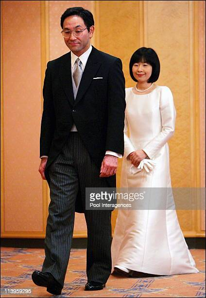 Japan's Emperor's youngest daughter Sayako speaks to reporters after her wedding ceremony in Tokyo Japan On November 15 2005 Sayako Kuroda follows...