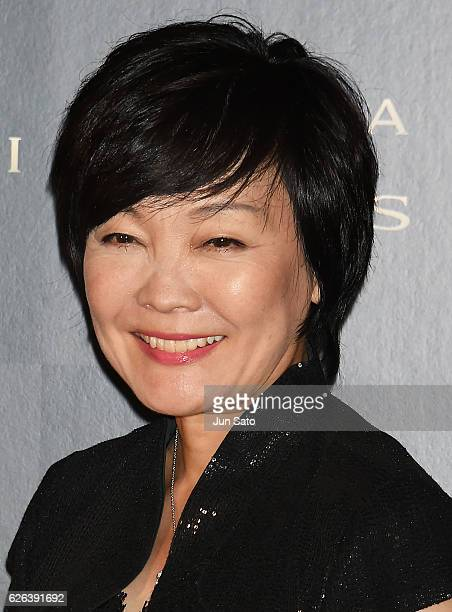 Japan's first lady Akie Abe attends the Bvlgari Avrora Awards at the Midtown Square on November 29 2016 in Tokyo Japan