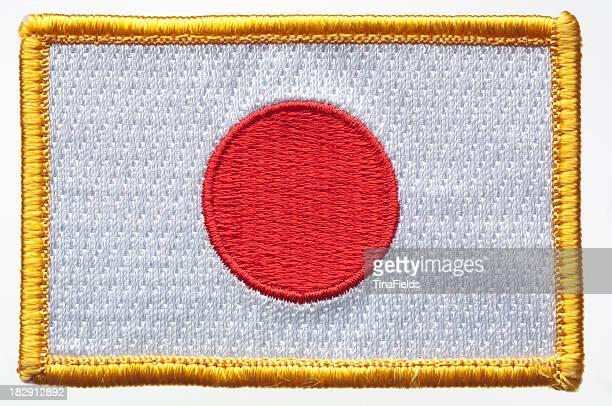 日本の国旗パッチ。