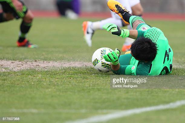 Japan's Goalkeeper Kosuke Nakamura during the match between Japan v Mexico U23 Friendly International at Estadio Municipal de Rio Maior on March 25...