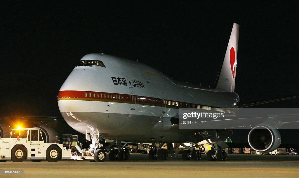 Japan's government leaves the Tokyo International Airport for Algeria to bring home Japanese survivors and the bodies of seven Japanese victims of the hostage crisis in Algeria on January 22, 2013, all of whom were employees or contractors for the Japanese engineering firm JGC.