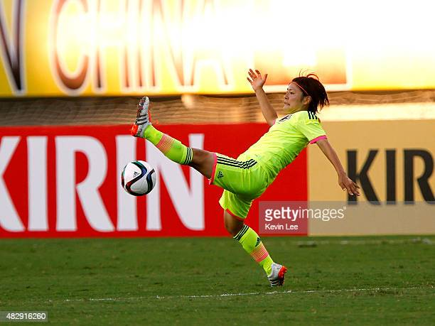 Japan's Hikaru Naomoto during EAFF Women's East Asian Cup 2015 final round at Wuhan Sports Center Stadium on August 4 2015 in Wuhan China