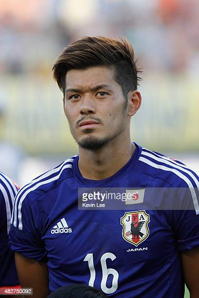 Japan's Hotaru Yamaguchi poses for a picture before the match against DPR Korea during EAFF East Asian Cup 2015 final round on August 2 2015 in Wuhan...