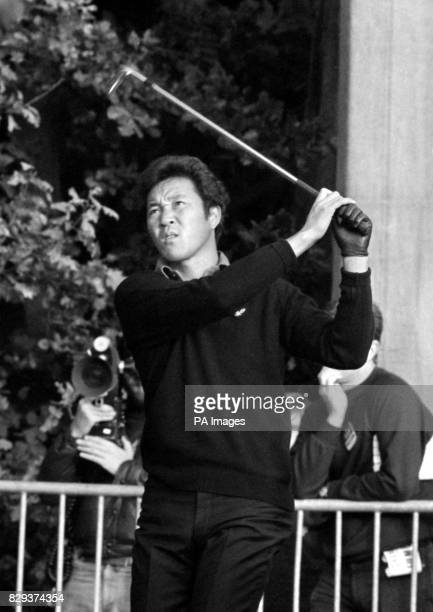 Japan's Isao Aoki in fine style at Wentworth during his Colgate World Match Play Championship final against Simon Owen of New Zealand