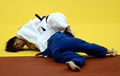 Japan's judoka Ami Kondo competes with Argentina's Paula Pareto during the under 48 kg category final of the IJF World Judo Championship in...
