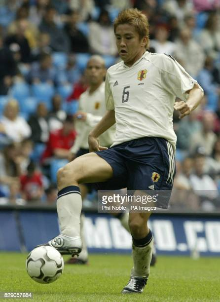 Japan's Junichi Inamoto during the opening match in the FA Summer tournament at the City of Manchester stadium