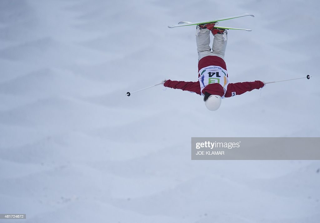 Japan's Junko Hoshino competes during the Women's Moguls final of FIS Freestyle and Snowboarding World Ski Championships 2015 in Kreischberg Austria...
