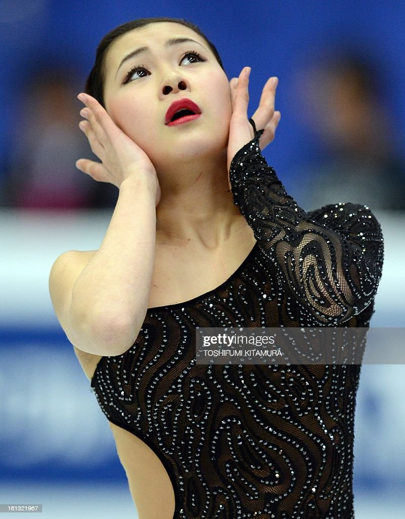 Japan's Kanako Murakami performs in the ladies free skating event at the Four Continents figure skating championships in Osaka on February 10, 2013.