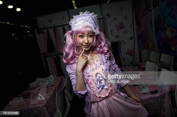 japan's Kimura U poses at the Tokyo Crazy Kawaii Paris Fair on September 20 2013 in Paris AFP PHOTO / FRED DUFOUR