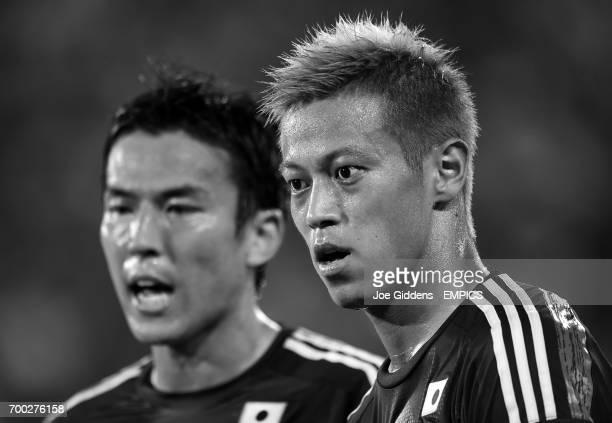 Japan's Makoto Hasebe and Keisuke Honda