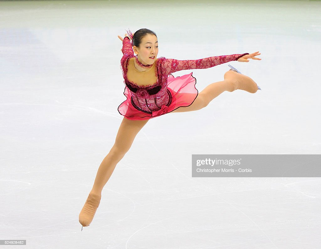 Japan's Mao Asada competes during the figure skating ladies's short program at Pacific Coliseum on day 12 of the Vancouver 2010 Olympic Winter Games