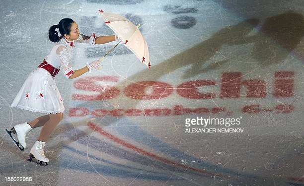 Japan's Mao Asada performs during gala exhibition at the ISU Grand Prix of Figure Skating Final in Sochi on December 9 2012 AFP PHOTO / ALEXANDER...