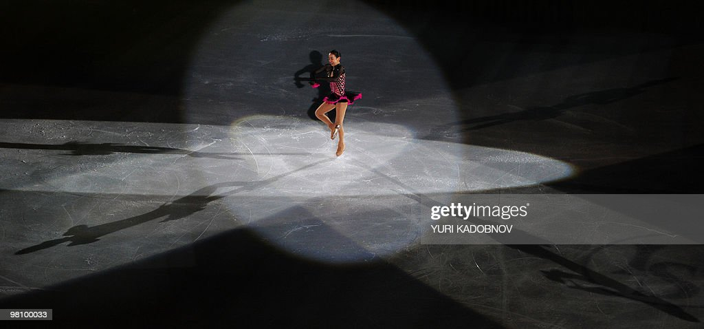 Japan's Mao Asada performs during the exhibition gala of the World Figure Skating Championships on March 28, 2010 at the Palavela ice-rink in Turin.