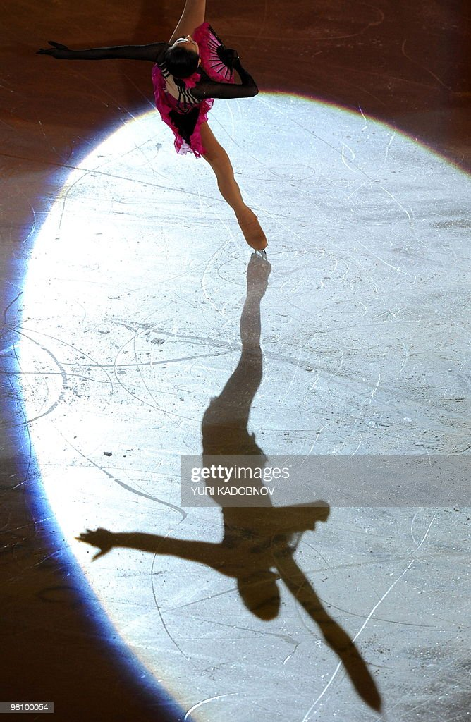 Japan's Mao Asada performs during the exhibition gala of the World Figure Skating Championships on March 28, 2010 at the Palavela ice-rink in Turin. AFP PHOTO / YURI KADOBNOV