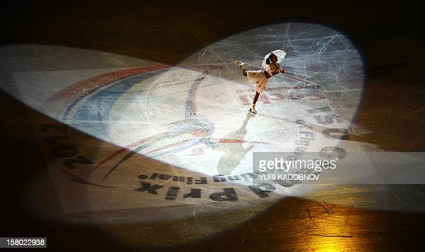 Japan's Mao Asada performs during the galaexhibition at the ISU Grand Prix of Figure Skating Final in Sochi on December 9 2012 AFP PHOTO/ YURI...
