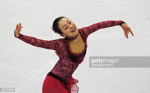 Japan's Mao Asada performs in the Ladies' Figure Skating Short Program in Vancouver during the 2010 Winter Olympics on February 23 2010 AFP PHOTO /...