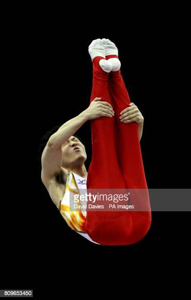 Japan's Masaki Ito during the Trampoline and Tumbling World Championships at the National Indoor Arena Birmingham