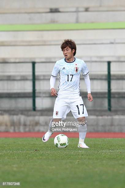 Japan's Midfielder Takahiro Sekine during the match between Japan v Mexico U23 Friendly International at Estadio Municipal de Rio Maior on March 25...