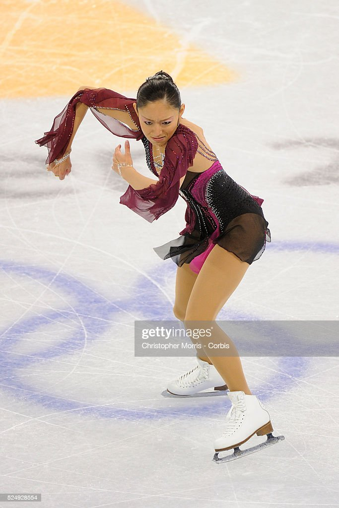 Japan's Miki Ando skates during the ladies's figure skating short program at Pacific Coliseum on day 12 of the Vancouver 2010 Olympic Winter Games