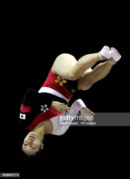 Japan's Mina Terada during the Trampoline and Tumbling World Championships at the National Indoor Arena BirminghamPicture date Thursday November 17...