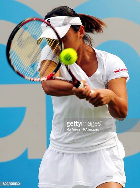 Japan's Misaki Doi during her game with Great Britain's Heather Watson during day three of the AEGON Classic at Edgbaston Priory Club Birmingham