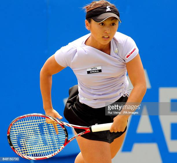 Japan's Misaki Doi during the Quarter Finals during day seven of the AEGON Championships at Edgbaston Priory Club Birmingham