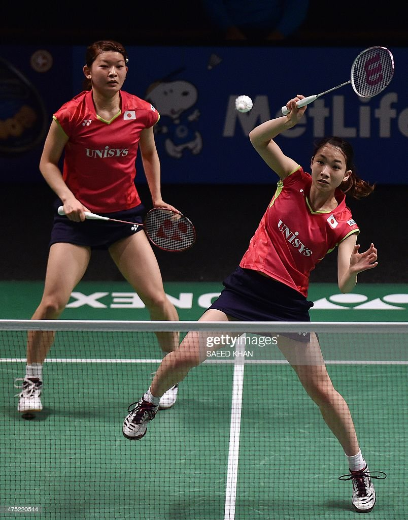 Japan s Misaki Matsutomo R and Ayaka takahashi pete against
