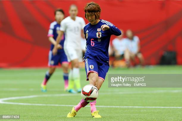 Japan's Mizuho Sakaguchi during the FIFA Women's World Cup Canada 2015 Final match between USA and Japan at BC Place Stadium in Vancouver Canada