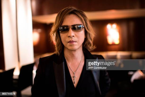 Japan's musician songwriter composer and record producer Yoshiki Hayashi aka Yoshiki leader and a cofounder of the heavy metal band X Japan poses on...