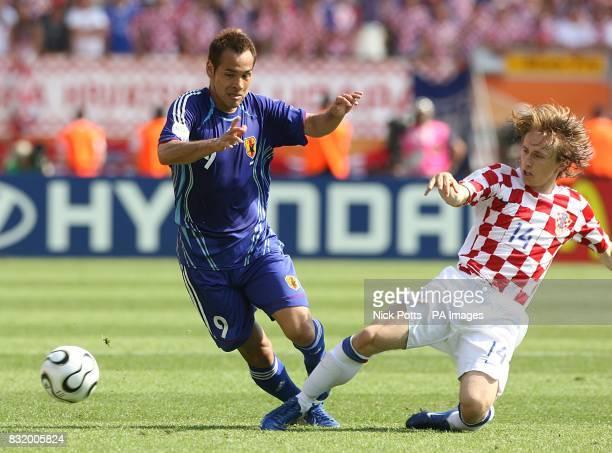 Japan's Naohiro Takahara and Croatia's Luka Modric