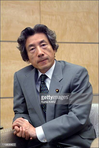 Japan'S Prime Minister Junichiro Koizumi At Prime Minister'S Official Resdence In Tokyo Japan On October 07 2002 Japan's Prime Minister Junichiro...