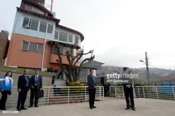 Japan's Prince Akishino and his wife Princess Kiko visit La Sebastiana former residence of late Chilean poet and Nobel laureate Pablo Neruda in...