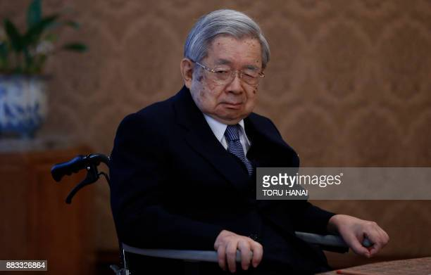 Japan's Prince Hitachi attends a meeting of the Imperial Household Council to discuss the timeline for the abdication of Japan's Emperor Akihito at...