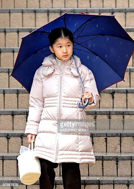 Japan's Princess Aiko arrives at Nagano Station Nagano Prefecture in central Japan on March 24 2010 The royal family will spend their vacation here...