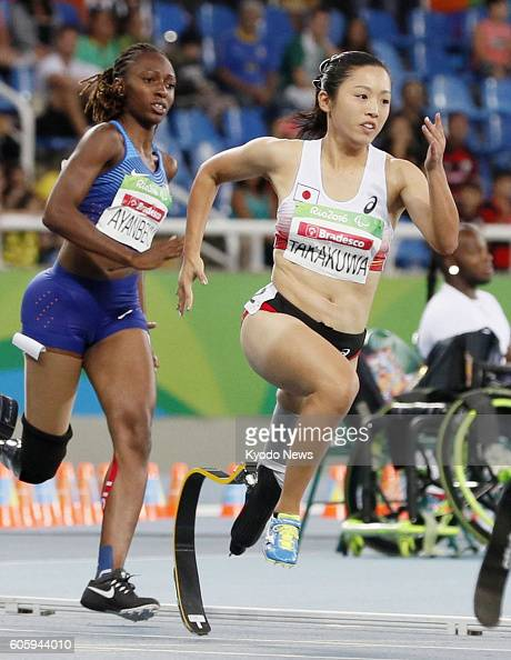 Japan's Saki Takakuwa competes in the women's 200meter T4344 class final at the Rio de Janeiro Paralympics on Sept 15 2016 Takakuwa finished seventh