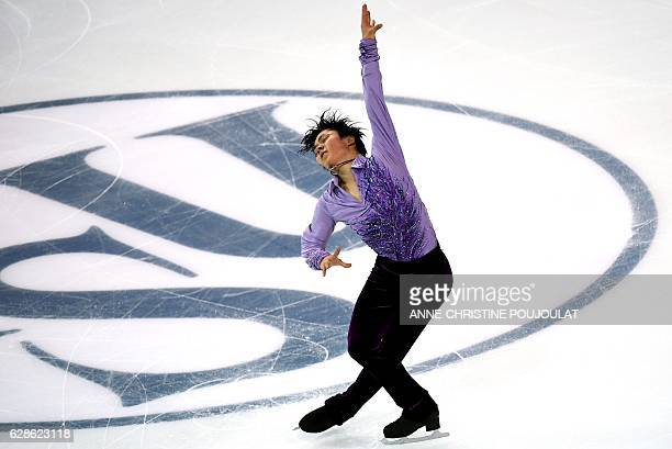 TOPSHOT Japan's Shoma Uno competes in the senior men short program at the ISU Grand Prix of Figure Skating Final on December 8 2016 in Marseille...