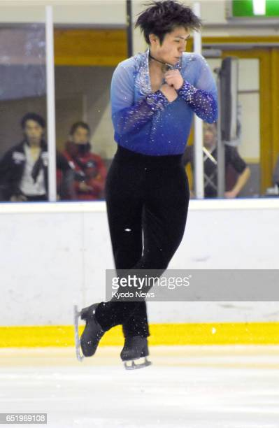 Japan's Shoma Uno performs his men's short program routine at the Coupe du Printemps in Luxembourg on March 10 2017 National champion Uno posted the...