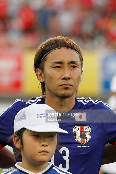 Japan's Shu Kurata stands on the field before a match against South Korea during EAFF East Asian Cup 2015 final round in Wuhan Sports Center Stadium...