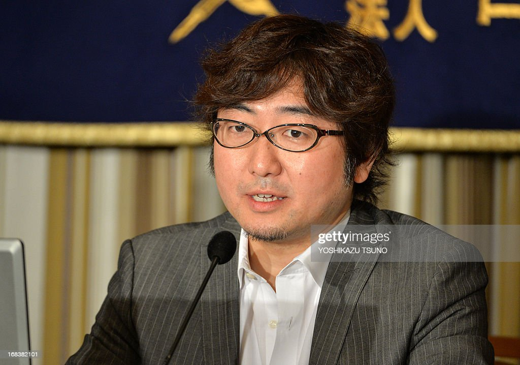 Japan's smartphone based social networking service (SNS) Line president <a gi-track='captionPersonalityLinkClicked' href=/galleries/search?phrase=Akira+Morikawa&family=editorial&specificpeople=6894864 ng-click='$event.stopPropagation()'>Akira Morikawa</a> speaks about Line's global strategy before the press in Tokyo on May 9, 2013. The Line, which has 150 million users in the world, offers users a free chatting and calling service, and its sales climbed 92 percent to 59.4 million USD in the first quarter in this year. AFP PHOTO / Yoshikazu TSUNO