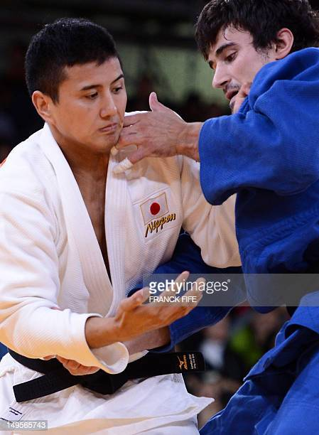 Japan's Takahiro Nakai competes with Moldova's Sergiu Toma during their men's 81kg judo contest match of the London 2012 Olympic Games on July 31...