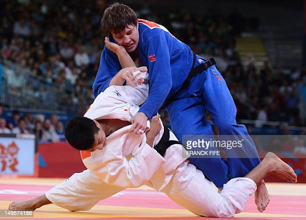 Japan's Takahiro Nakai competes with Russia's Ivan Nifontov during their men's 81kg judo contest match of the London 2012 Olympic Games on July 31...