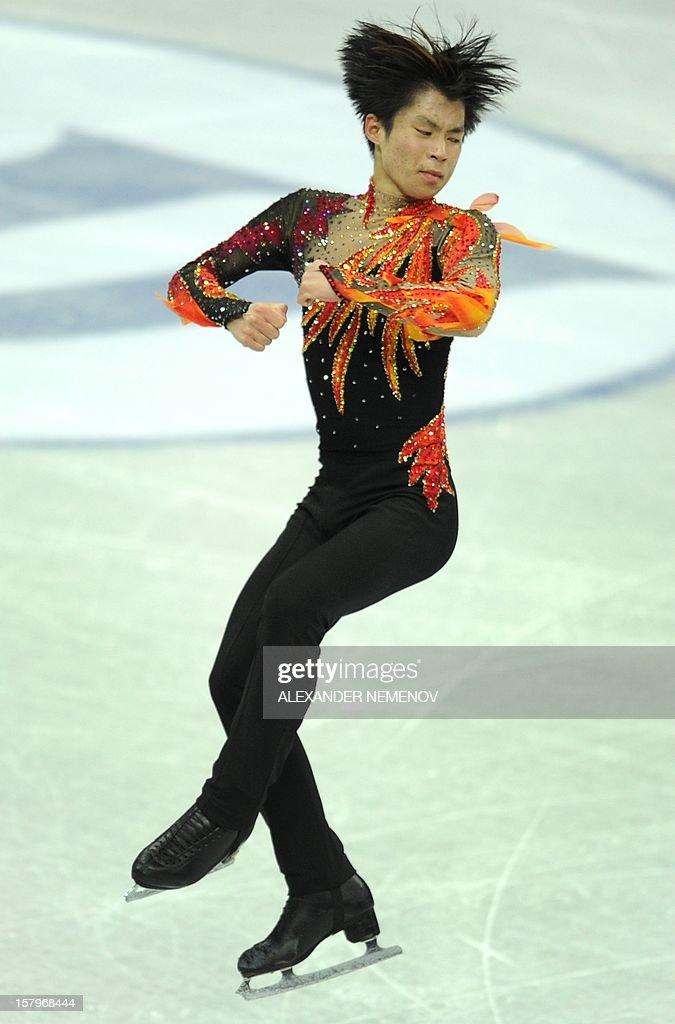 Japan's Tatsuki Machida performs during men free skating event at the ISU Grand Prix of Figure Skating Final in Sochi on December 8, 2012.