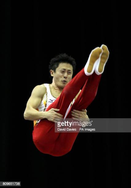 Japan's Tetsuya Sotomura during the Trampoline and Tumbling World Championships at the National Indoor Arena Birmingham