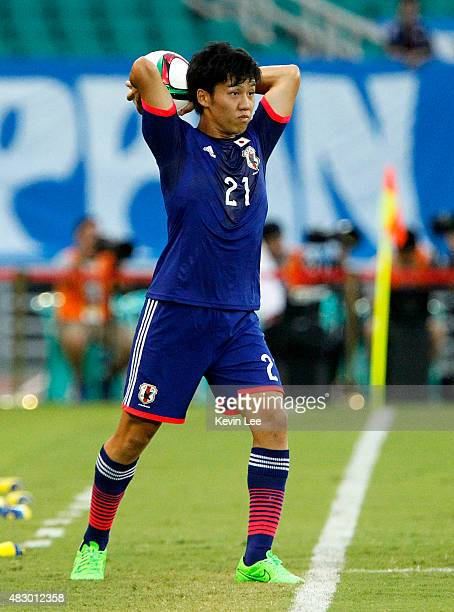 Japan's Wataru Endo in action against South Korea during EAFF East Asian Cup 2015 final round in Wuhan Sports Center Stadium on August 5 2015 in...