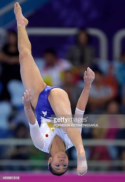 Japan's Yamamoto Yuriko performs on the balance beam during the women's individual allround final at the 2014 Asian Games in Incheon on September 23...