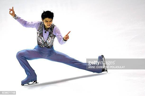TOPSHOT Japan's Yuzuru Hanyu competes in the senior men short program at the ISU Grand Prix of Figure Skating Final on December 8 2016 in Marseille...