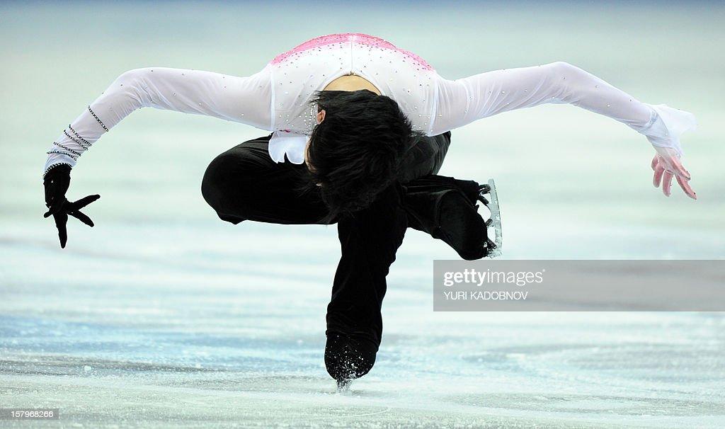Japan's Yuzuru Hanyu performs during his men free skating at the ISU Grand Prix of Figure Skating Final in Sochi on December 8, 2012.