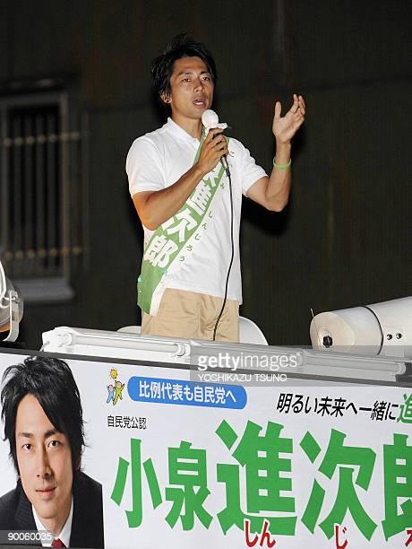 JapanvotedynastiesFOCUS by Kyoko Hasegawa Shinjiro Koizumi the son of charismatic former premier Junichiro Koizumi speaks to supporters as he...